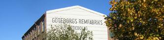 Göteborgs Remfabrik sett ifrån et flygplan